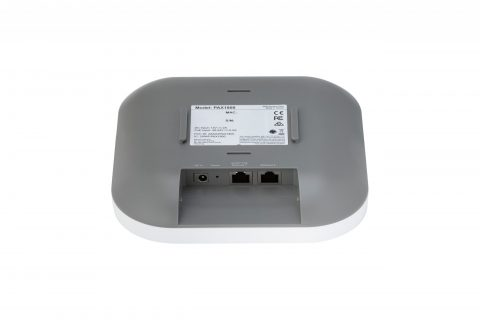 Rear picture of Plasma Cloud's PAX1800 WiFi 6 Access Point.